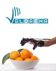 Gloreha Logo mit Orange