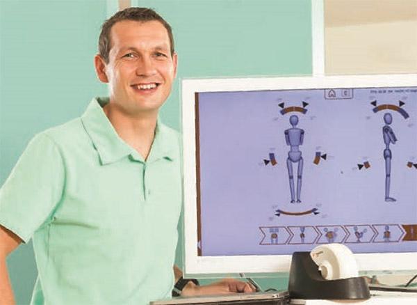 Kevin Eisele; Physiotherapeut und Eigentümer des Reha-Zentrums Schwäbisch Gmünd, Deutschland