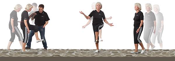 TerraSensa Übungen mit Seniorin